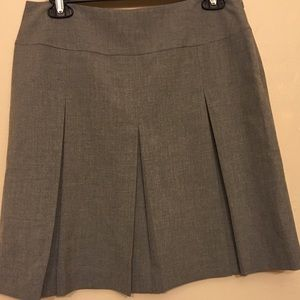 Gray Pleated Short Skirt Career Office B044